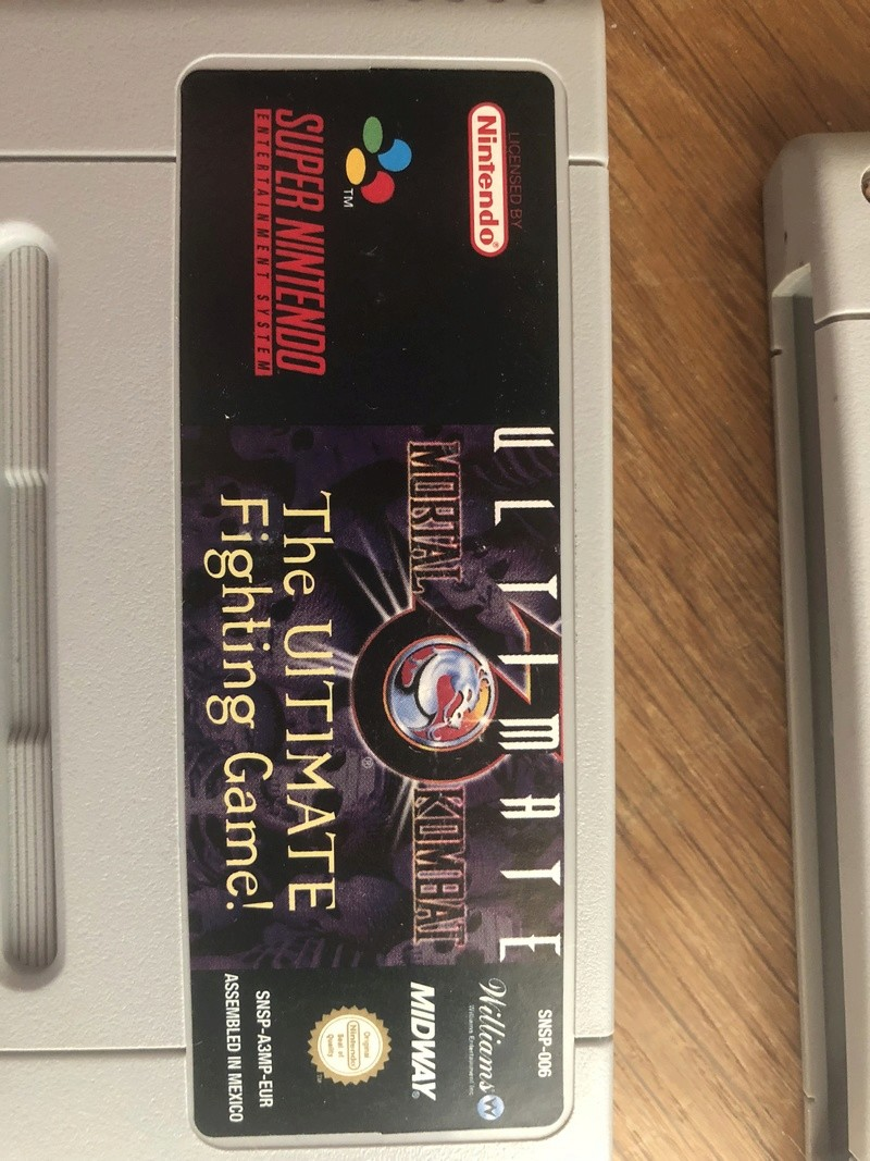 Ultimate Mortal Kombat 3 - Super Nintendo - cartouches fausses ? Img_4216