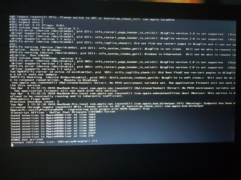 OsX sur Toshiba Sattelite Pro C660-2CM 20180410