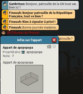 [Gendarmerie N.] Rapport de Patrouille de Fineuuh 316