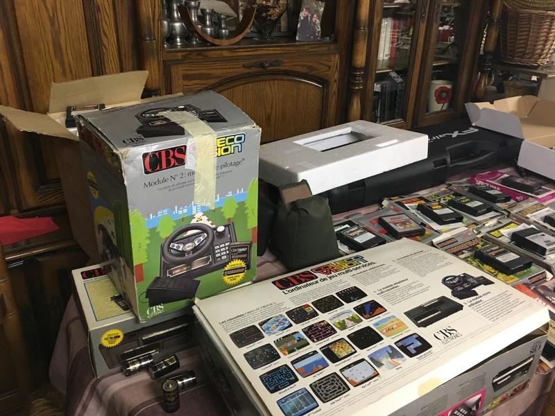 [Estim] CBS console coleco vision + accessoires + jeux cbs + jeux atari Df82c210