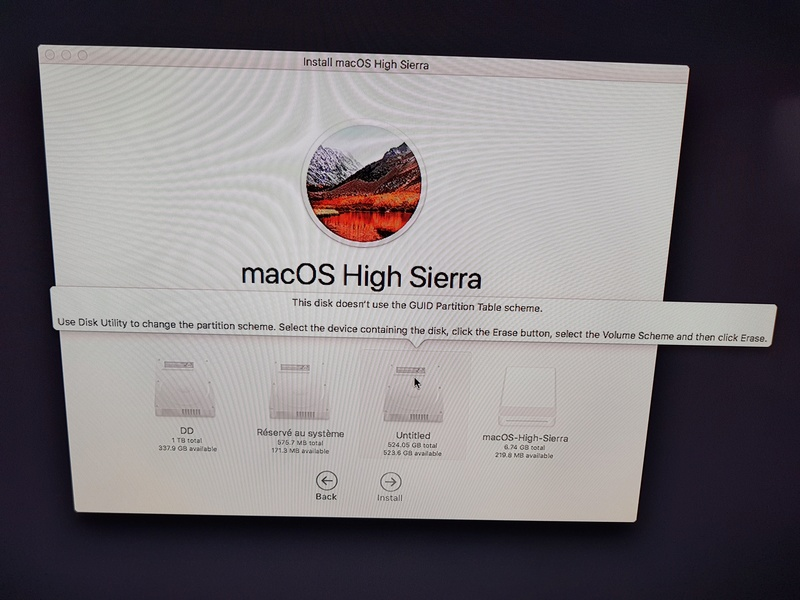 [résolu]Installation hackintosh high sierra i52500k 17c70110