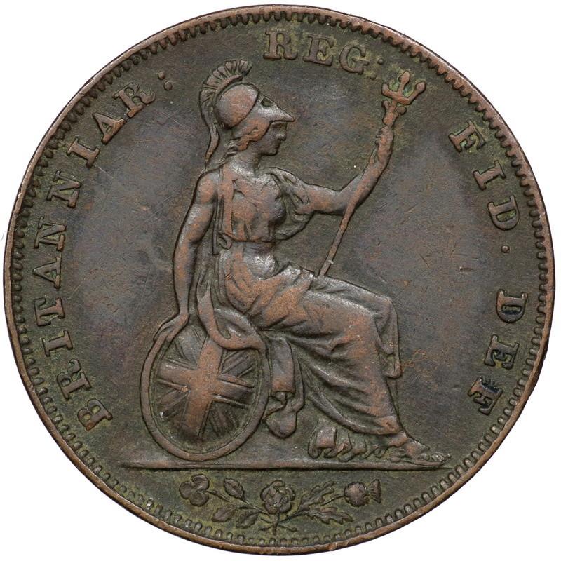 Gran Bretaña. Farthing 1839 con tridente de dos puntas. 00682_11