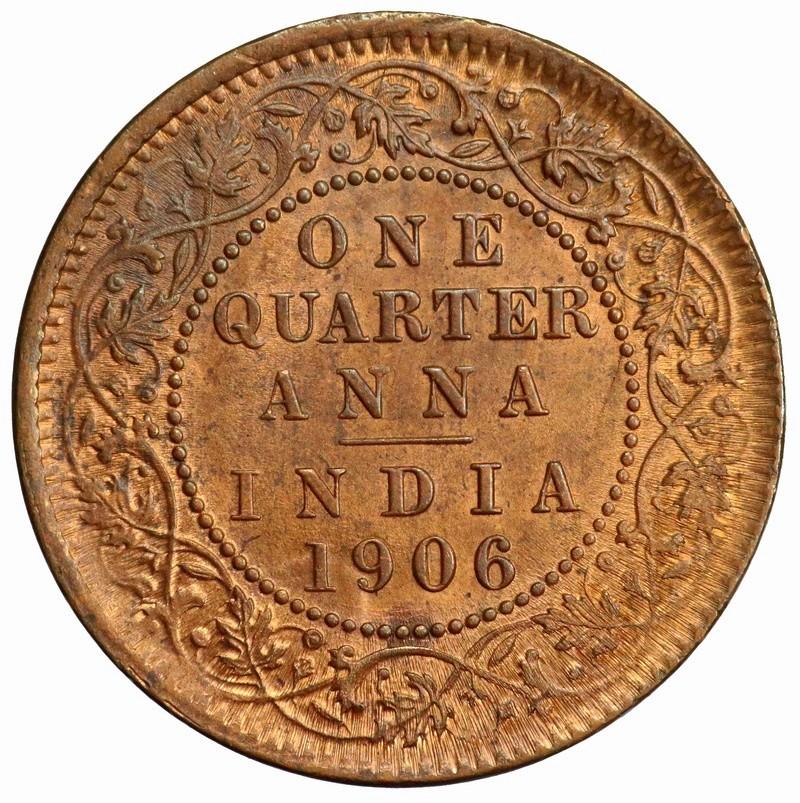 India Británica, 1/4 Anna 1906 Eduardo VII ¿Es Unc para vosotros? India-14