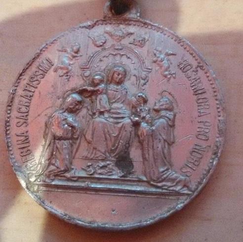 Sto. Domingo de Guzmán / Entrega del Rosario a Santo Domingo y Santa Catalina de Siena. S.XX Sant10