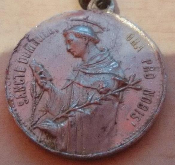 Sto. Domingo de Guzmán / Entrega del Rosario a Santo Domingo y Santa Catalina de Siena. S.XX Sant210