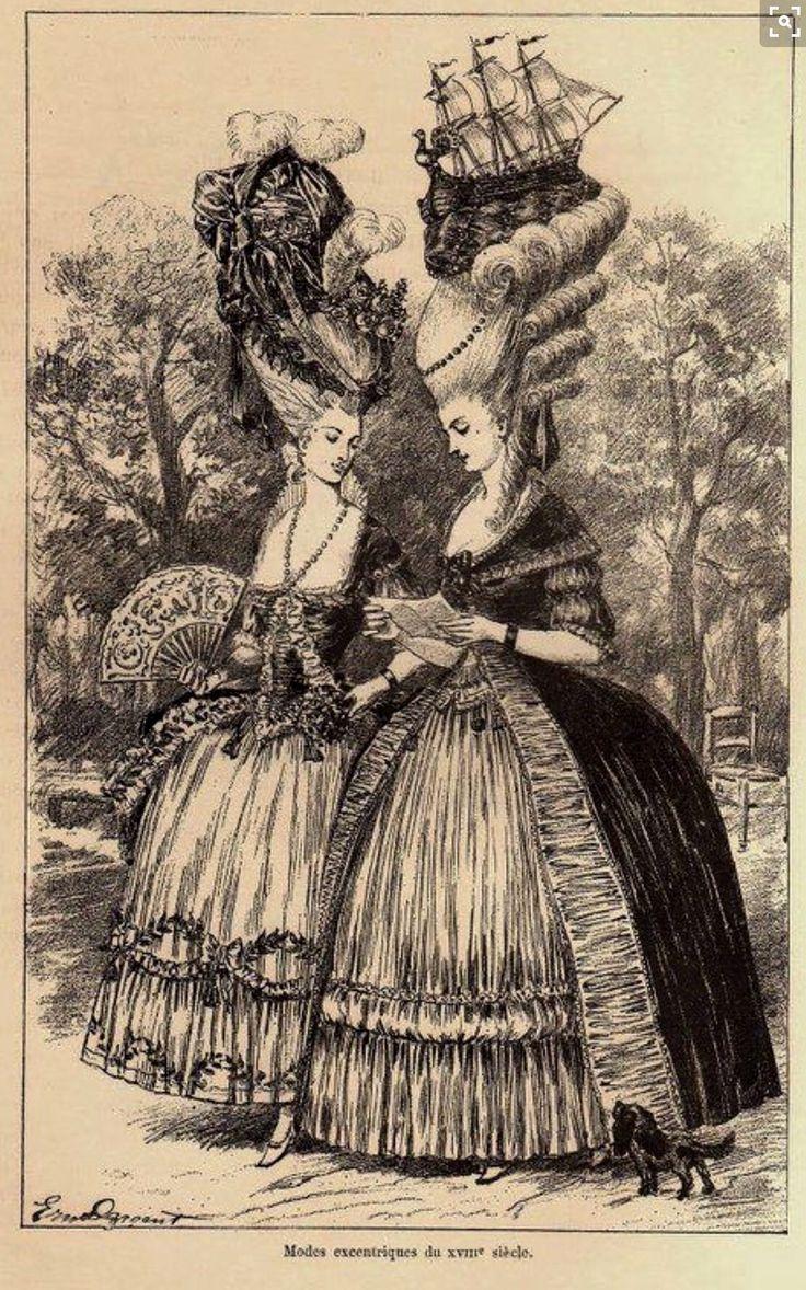 Coiffures du XVIIIeme: poufs, postiches, bonnets et chapeaux - Page 19 Unbeli10
