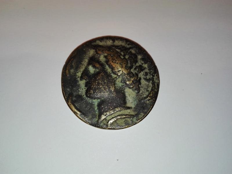 Reproducción moderna en bronce tetradracma de Siracusa. Rom3-a10