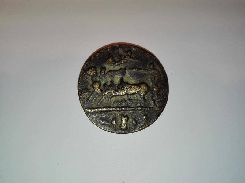 Reproducción moderna en bronce tetradracma de Siracusa. Rom3-r10