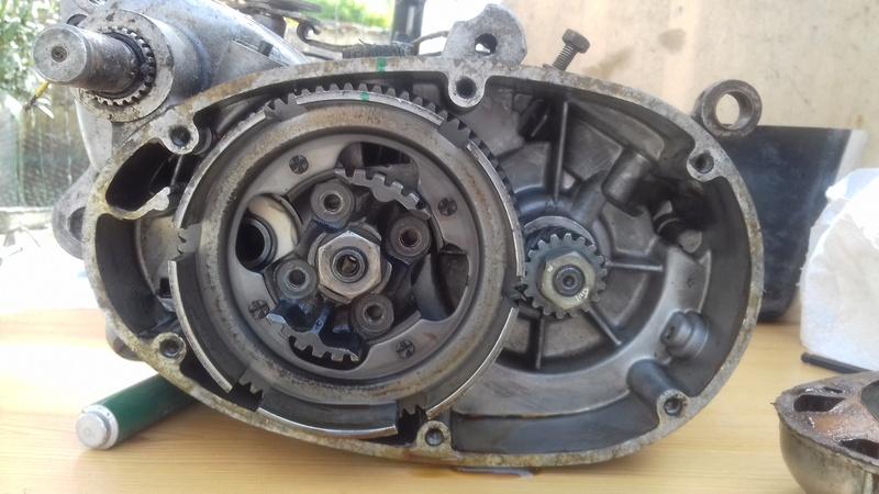 dépose complet moteur flandria 4,3cv à 4vitesse a main 20180461