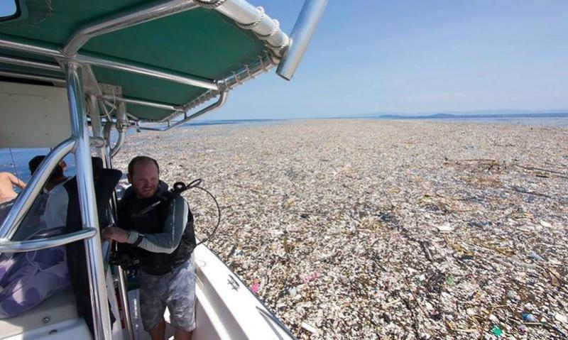 Des photographies inquiétantes des Caraïbes montrent une mer de plastique et de polystyrène 112