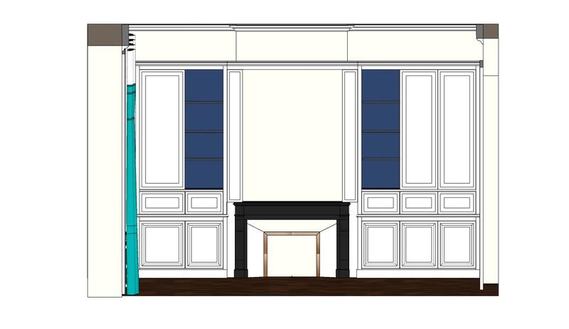 Conseil pour bibliothèque bois peint Bureau10