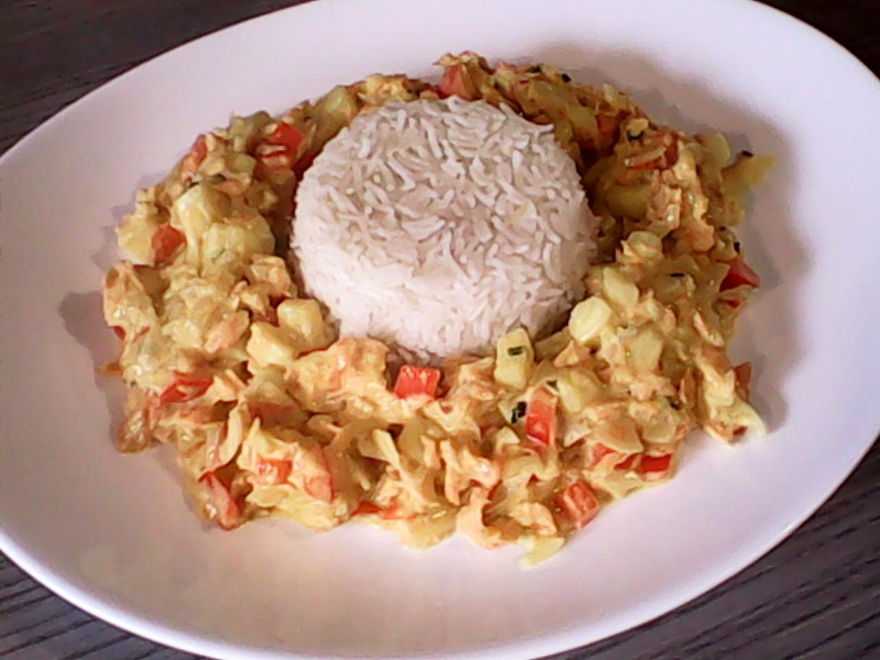 Curry de saumon, lait de coco & son riz  Img_2063
