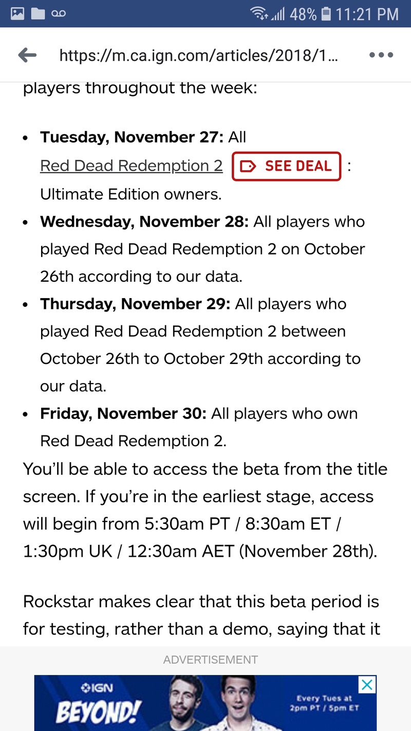 #RDR2 Online beta player update Screen11