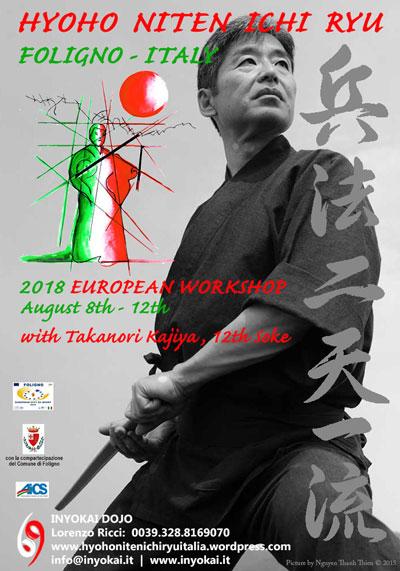 2018 Hyoho Niten Ichi Ryu European Seminar Poster11
