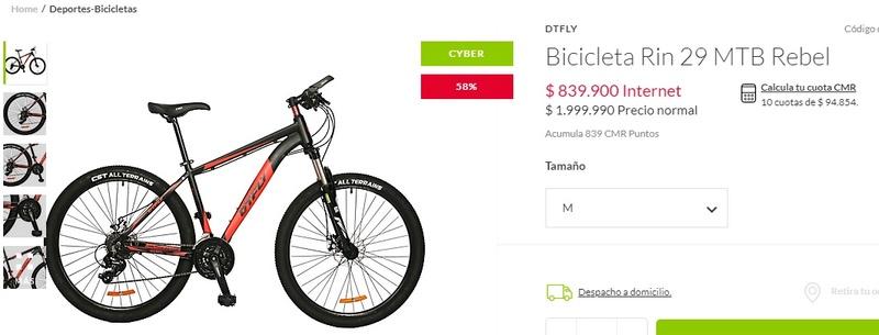 compra bicicleta Rebel11