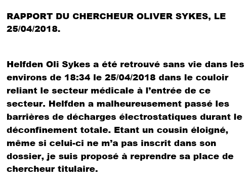 Dossier du chercheur titulaire Sykes Helfde10