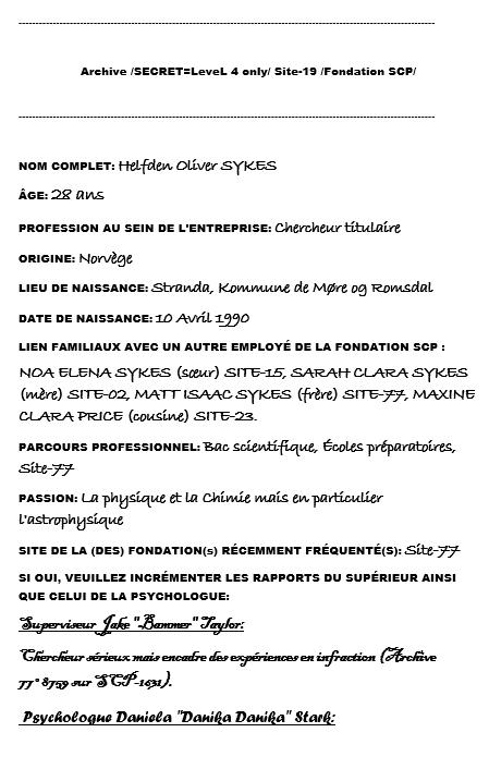 Dossier du chercheur titulaire Sykes Screen16
