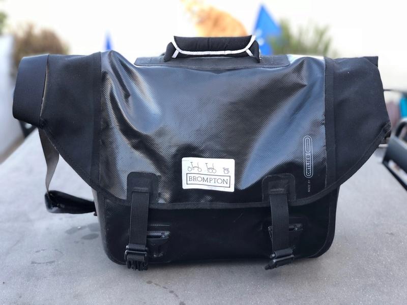 (Je vends) Brompton O Bag (sacoche frontale étanche) Img_6310