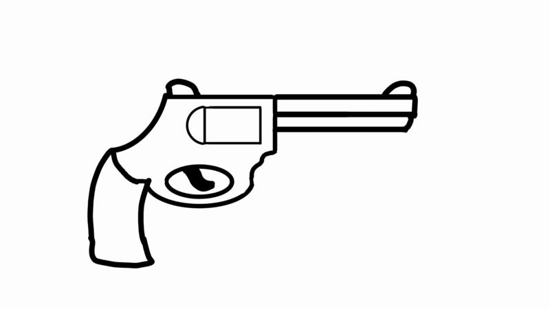 фальшивый пистолет Sketch11