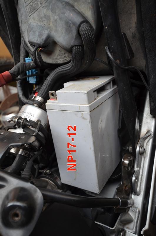 F650 Scarver batterie Bmw_f615