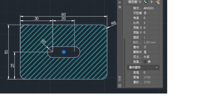 AutoCAD教學 幾何圖形習題01 Izia11