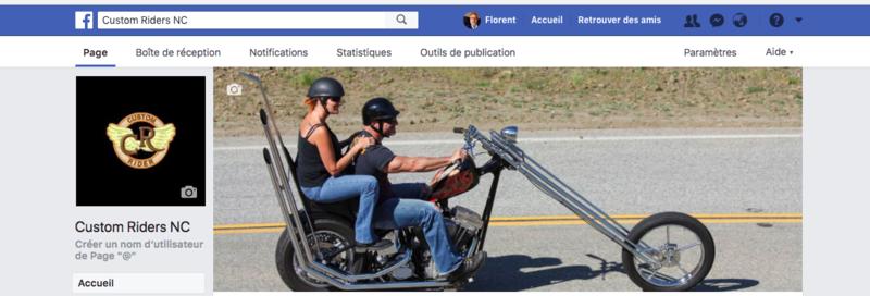 Promotion du Groupe Facebook dédié aux riders qui roulent en custom. Captur10