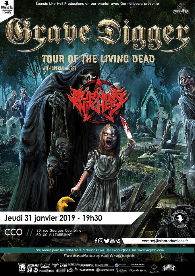 Grave Digger et Burning Witches à Lyon (CCO) 36970912