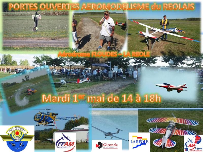 Journée Portes Ouvertes à l'Aéromodélisme Réolais Affich10