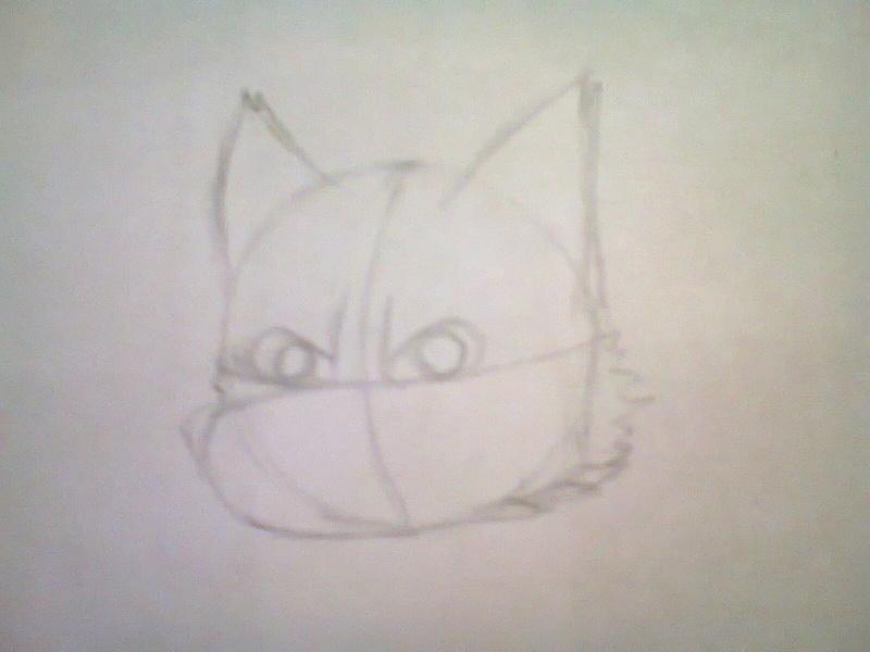 Como dibujar la cabeza de un lobo furry Foto1112