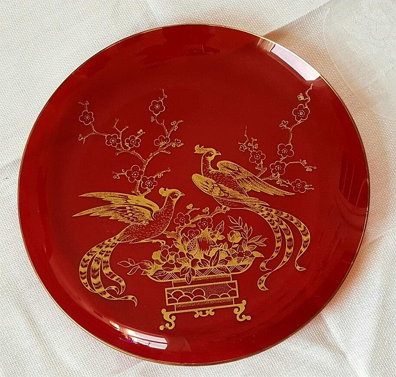 Red Glass plate 20170410