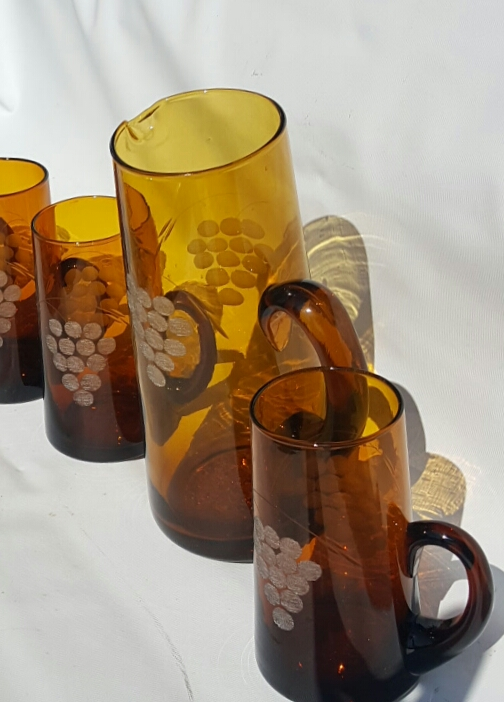 Glass Pitcher and glasses 20170510