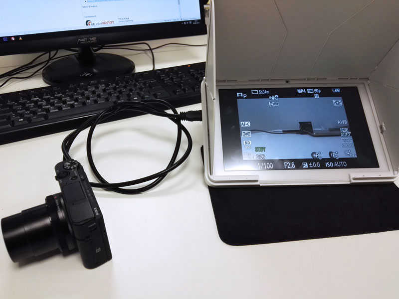Tablette FlySight HD900 et Lumix en HDMI Flysig11