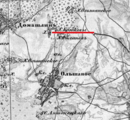 Крюков (Круков) хутор (Гай, хут.) Ольшанского прихода Eea_od13