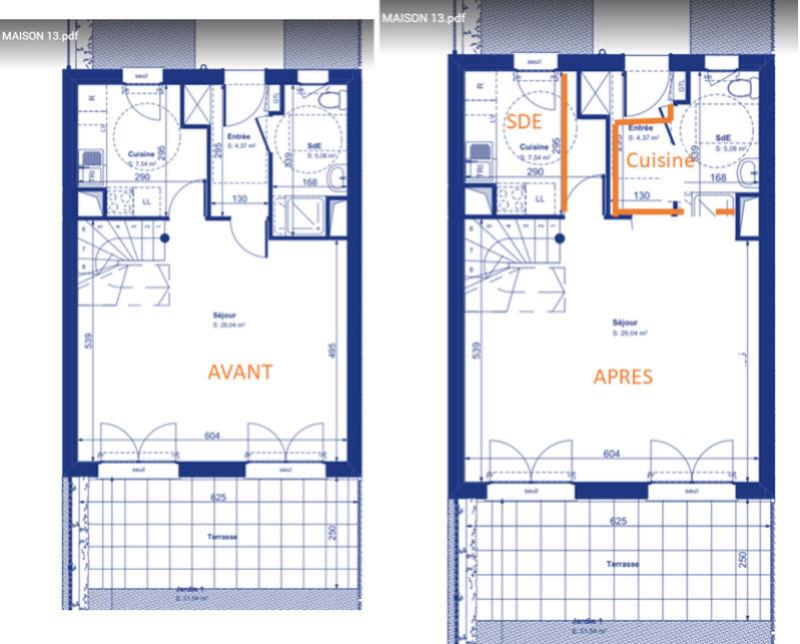 Aménagement Maison VEFA - Cuisine vs. Salle d'eau Idyepl10