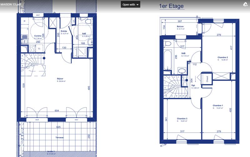 Aménagement Maison VEFA - Cuisine vs. Salle d'eau Plan_m10