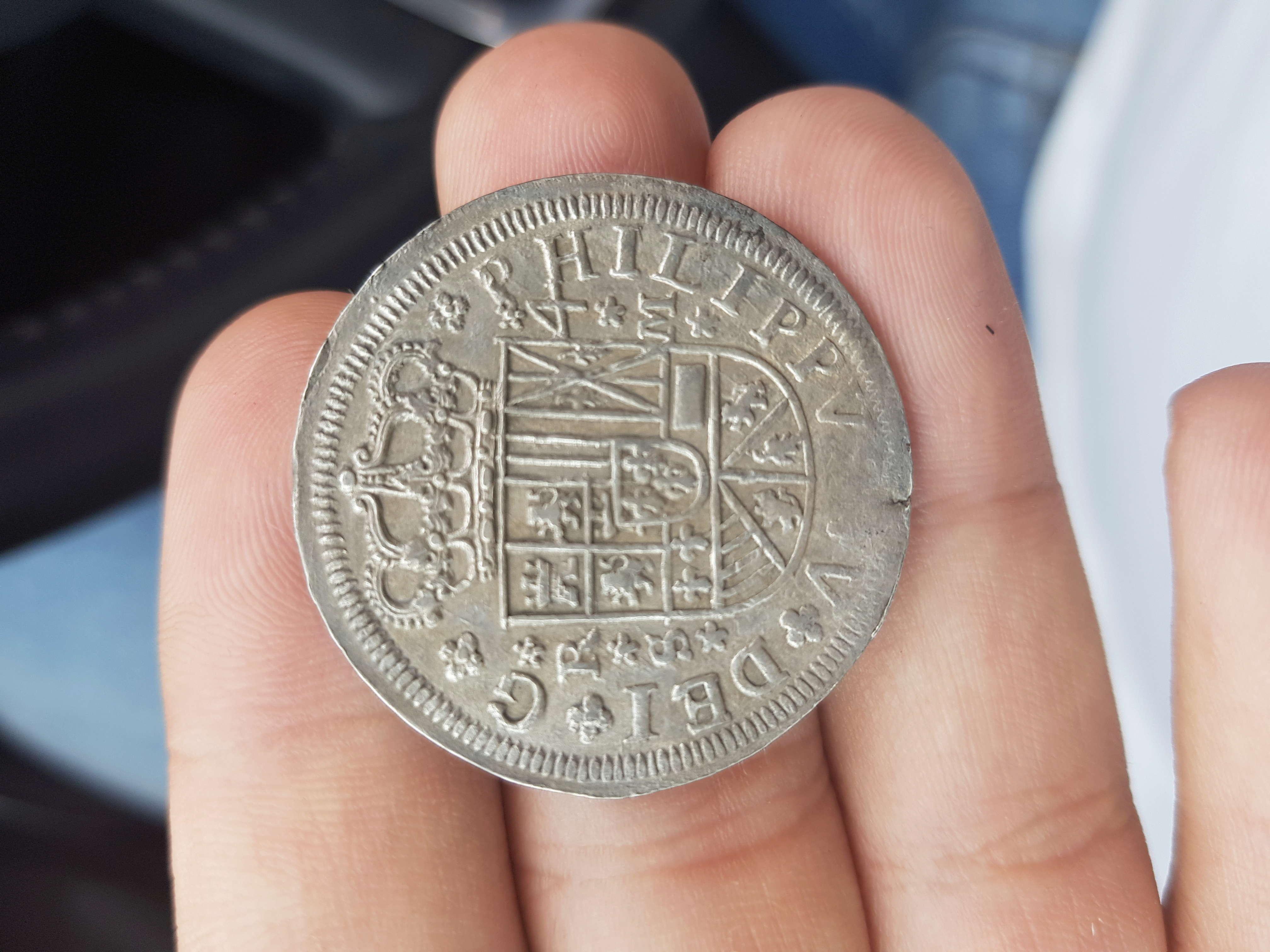 4 reales de Felipe V, Sevilla 1718 - M. Dedicado a Lanzarote 15272410