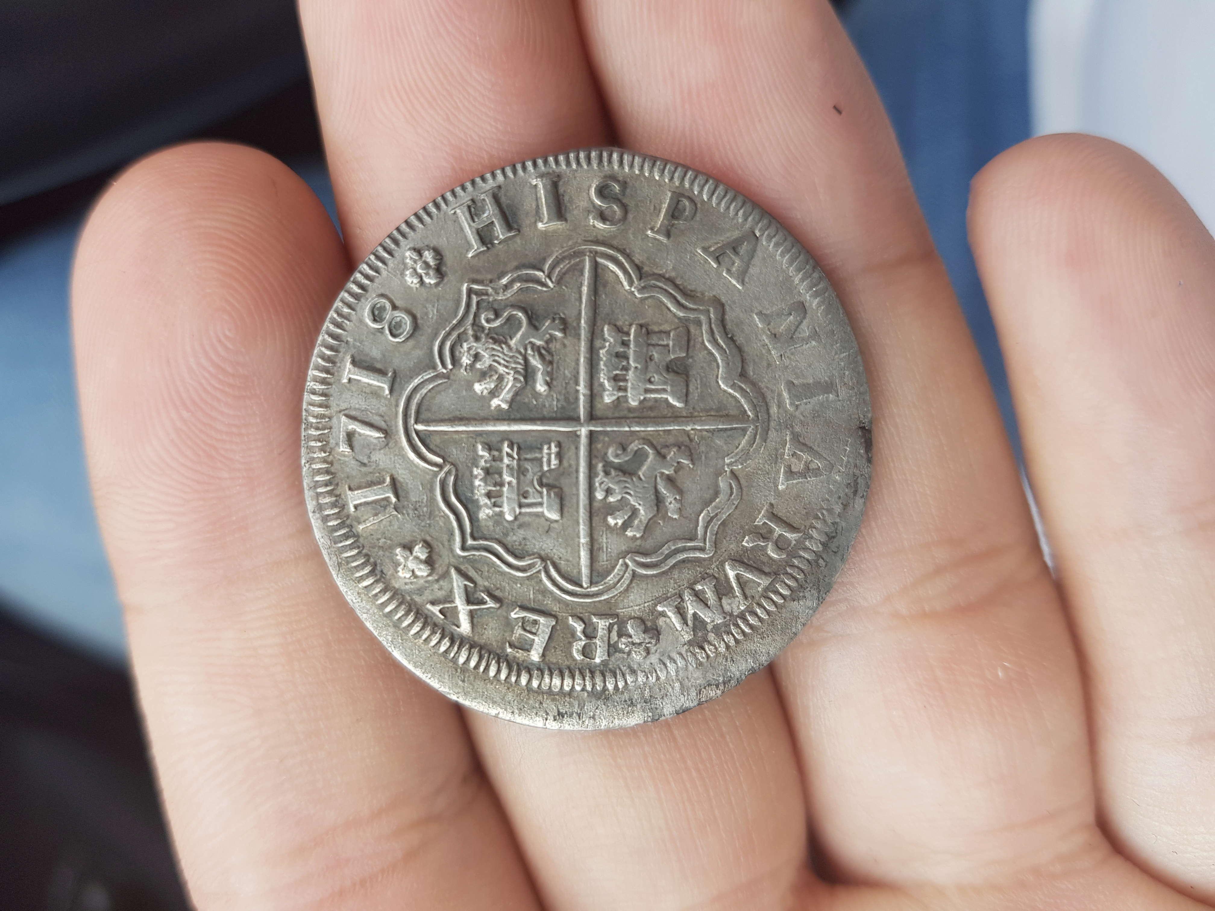 4 reales de Felipe V, Sevilla 1718 - M. Dedicado a Lanzarote 15272411