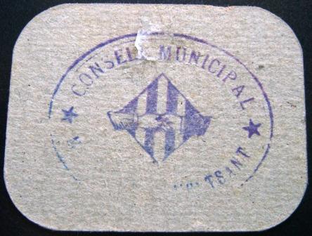 10 Céntimos Margalef de Montsant, 1937 Margal11