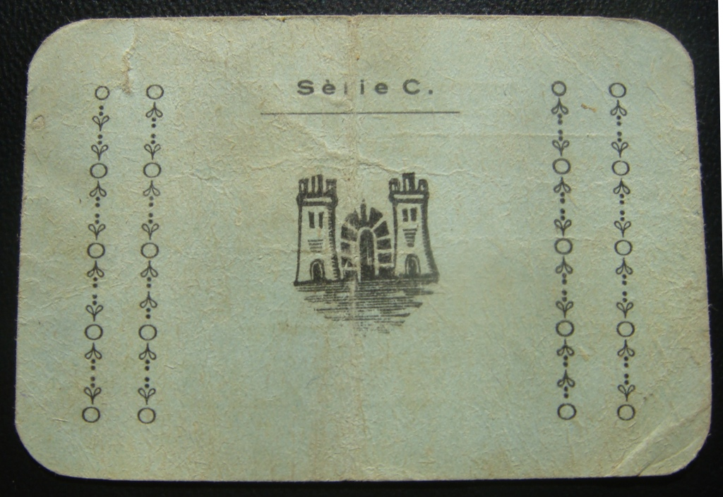25 Cèntims Vilallonga Del Camp, 1937 (1ª Emisión) Vilall11