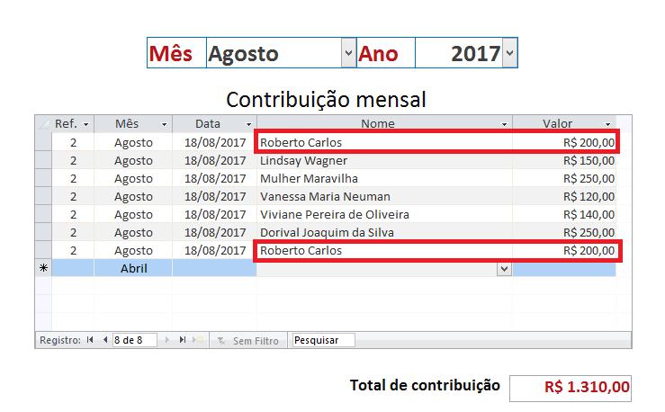 Duplicação de registros Ec_mar10