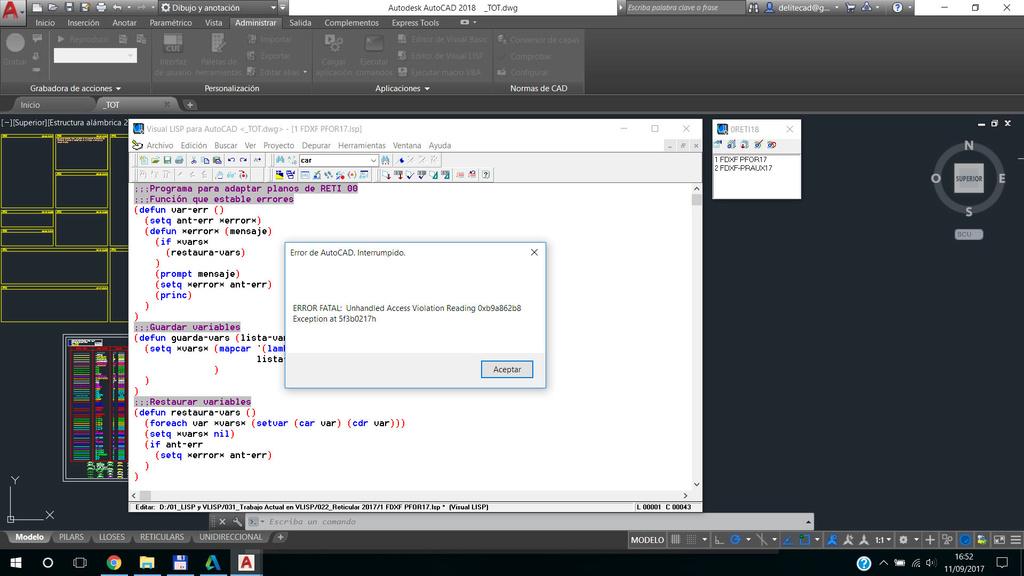 Error fatal al guardar un proyecto de VLISP en el IDE de vlisp Sin_ty10
