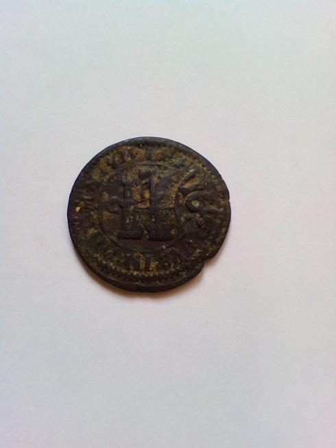 2 maravedís de Felipe III de Segovia, 1601, resellados. A-rese11