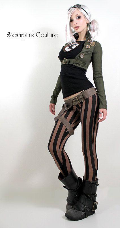 Polainas de Steampunk Couture y chaquetilla. 2b4e1111