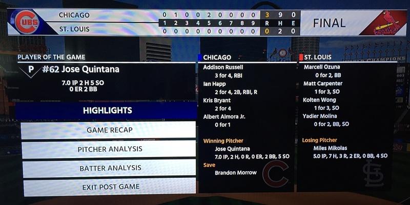 Chicago Cubs vs St. Louis Cardinals F6649510