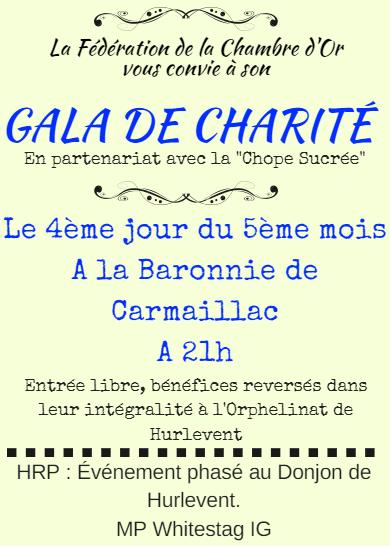 [La Chambre d'Or] Gala de Charité. Affich12