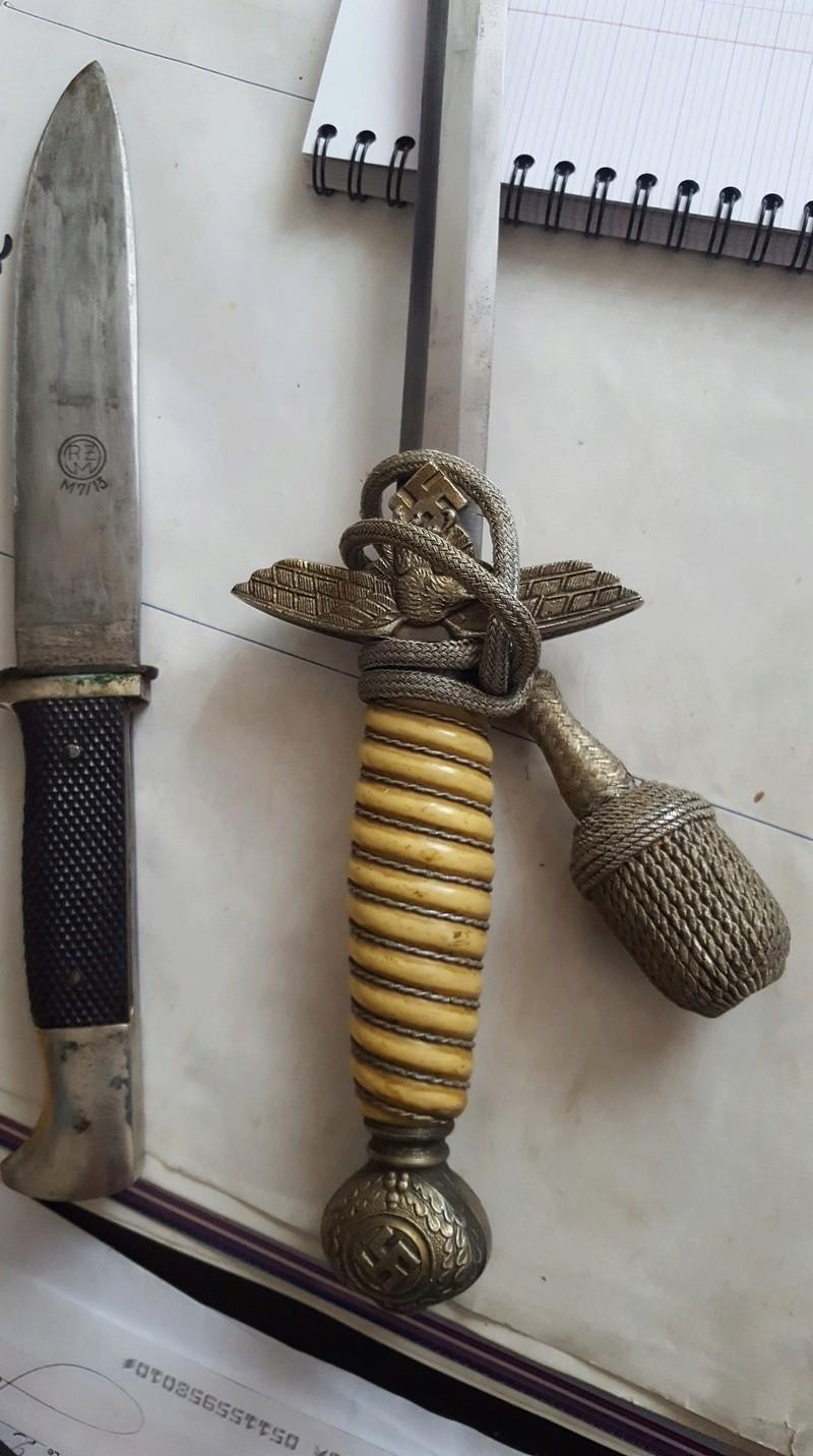 Couteau Hitlerjugend et dague officier luftwaffe 20180564