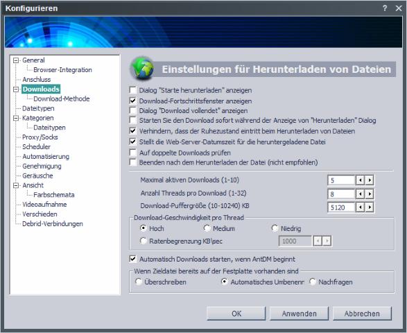 Anzeige des Download-Fortschrittsfenster Screen10