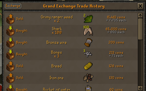 100 Ranarr VS 100 Toadflax Seeds on a low level account. Ranarr14
