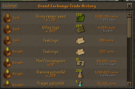 100 Ranarr VS 100 Toadflax Seeds on a low level account. Ranarr16
