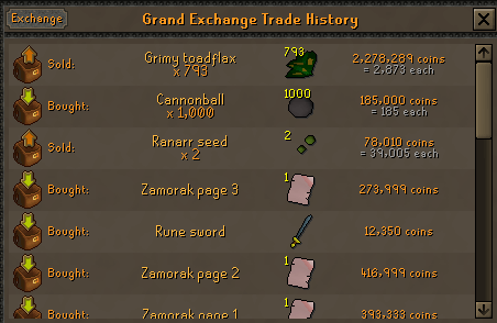 100 Ranarr VS 100 Toadflax Seeds on a low level account. Toadfl10
